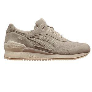 ASICS men's gel respector grey suede sneakers 8